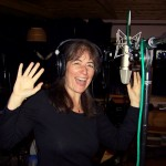 Esther Golton behind the mic at 10th Planet Studio, recording Stay Warm in winter/spring 2012.