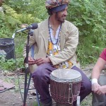 Isaac James - who I met in summer 2004 when he played the song Yula with Borrina Mapaka in the yard of my 12x12 cabin.  Via a California studio, he remotely added the wonderful African djembe sounds on Yula.