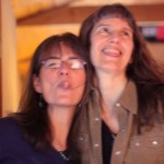 Blurry fun!  Esther Golton with Robin Dale Ford at 10th Planet Studio, Fairbanks, Alaska